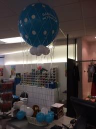 communie luchtballon met mandje excl. pluche