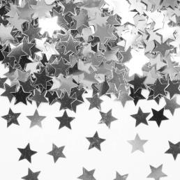 tafelconfetti sterren zilver