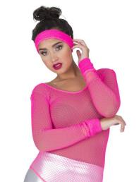 Zweetbandjes 3st neon roze