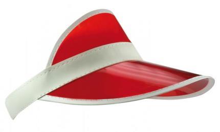 pet sun visor (zonneklep) rood