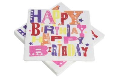 servetten happy birthday