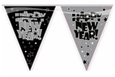 Vlaggenlijn happy new year