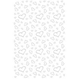 Tafel loper met harten (0,60m x 4,50m)