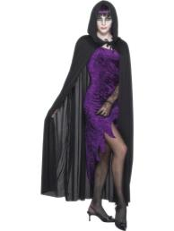 Hooded cape zwart