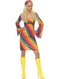rainbow dress met sjaaltje