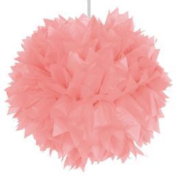 Pompon diam. 30 cm roze