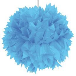Pompon diam. 30 cm blauw