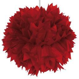 Pompon diam. 30 cm rood