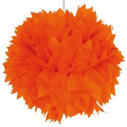 Pompon diam. 30 cm oranje