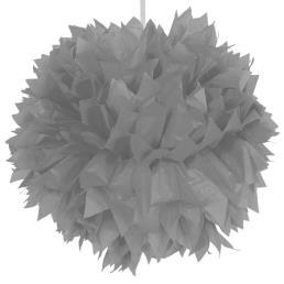 Pompon diam. 30 cm zilver