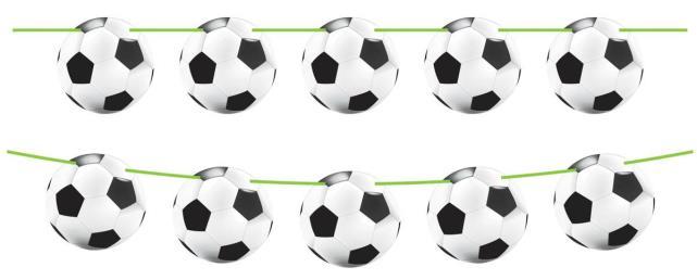Vlaggenlijn voetbal 10 mtr
