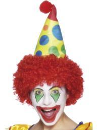Clown pruik/hoed