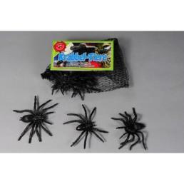 Spinnen 8 stuks (7x2,5cm)