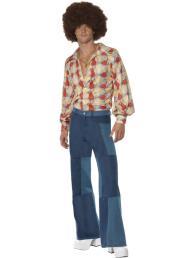 jaren 70 broek, jeanslook