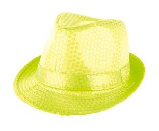 hoed fluo glitter geel