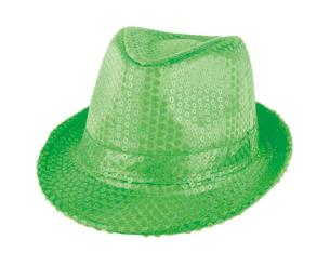 hoed fluo glitter groen