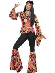 Hippie pak (top/broek/sjaal/ketting)