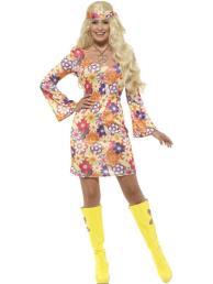 flower hippie jurk (incl. accessoires)