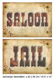 Muurdeco saloon/jail