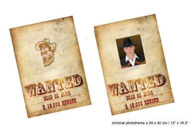Muurdeco Wanted cowboy
