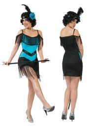 Charleston jurk blauw