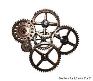 Steampunk broche