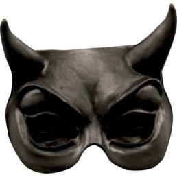 Black devil half mask