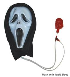 Masker scream met bloed