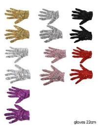 Handschoenen kort glitter