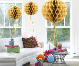 Honeycomb diam. 30 cm goud