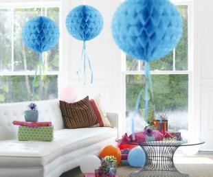 Honeycomb diam. 30 cm blauw