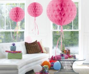 Honeycomb diam. 30 cm roze