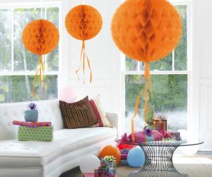 Honeycomb diam. 30 cm oranje