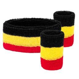 zweetbandjes set België (1 hoofd/1 arm)