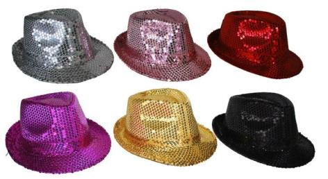 hoed glitter roze