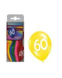 ballonnen 60 jaar 12 st