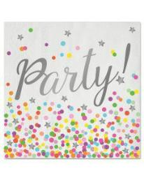 Servetten Party confetti (16st)