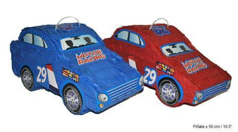 Pinata auto blauw