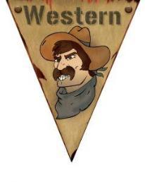 Vlaggenlijn Western (5 meter)