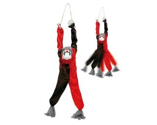 Hanging clown (movement, light, sound)