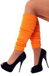 Beenverwarmer dik oranje