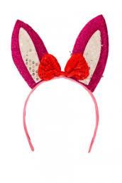 diadeem konijn roze/wit