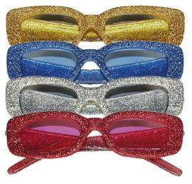 Bril glitter rechthoekig