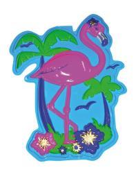 wanddeco flamingo