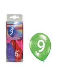 ballonnen 9 jaar 12 st