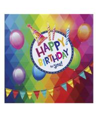 20 servetten happy birthday 33cm