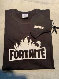 fortnite set t-shirt + mondmasker