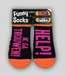 funny socks trouwen