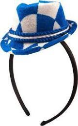 diadeem minihoedje tirol blauw/wit