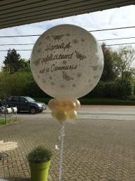Grote witte communieballon